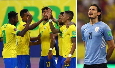 Man Utd, Man City, Chelsea and Leeds dealt blow over stars as Brazil thrash Uruguay