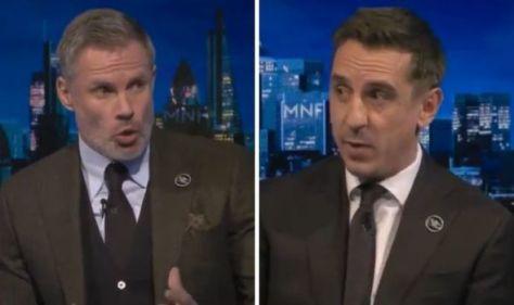Gary Neville shuts down Jamie Carragher's attempt to interrupt in heated Man Utd debate