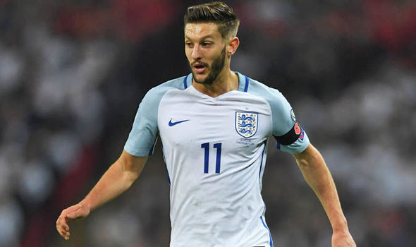 Adam Lallana is on England's standby list for the 2018 World Cup