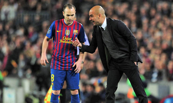Image result for Barcelona reunion with Manchester City's Guardiola will be 'special' – Iniesta