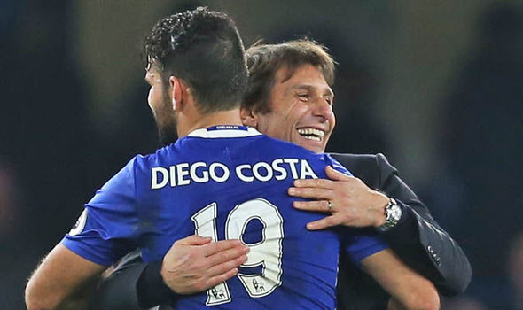 Antonio Conte and Diego Costa