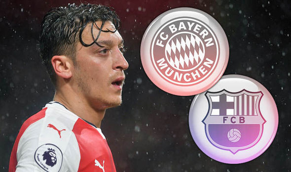 Mesut Ozil wanted by Barcelona and Bayern Munich
