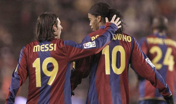Barcelona Lionel Messi Ronaldinho
