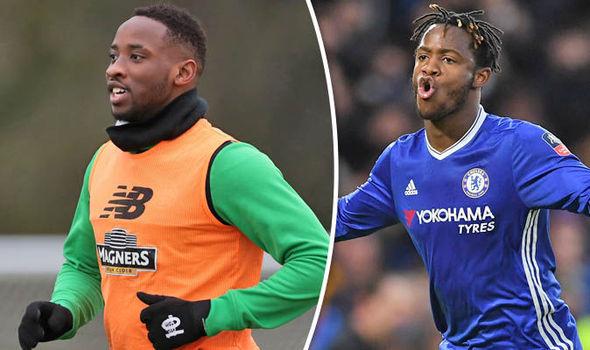 Moussa Dembele Michy Batshuayi Chelsea Celtic