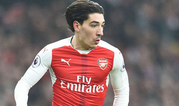 Hector Bellerin in action for Arsenal against Hull
