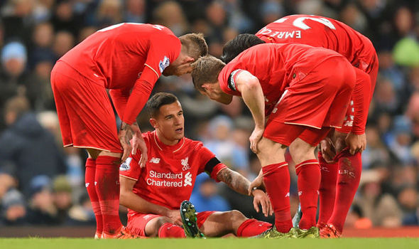 Image result for coutinho injured