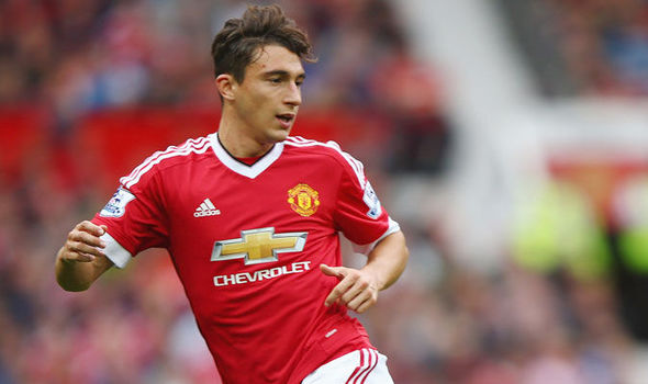 Matteo Darmian in action for Manchester United
