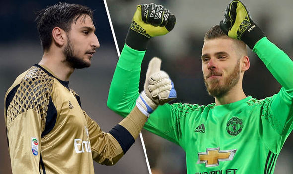 Gianluigi Donnarumma and David De Gea