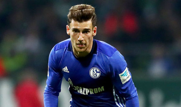 Leon Goretzka in action for Schalke