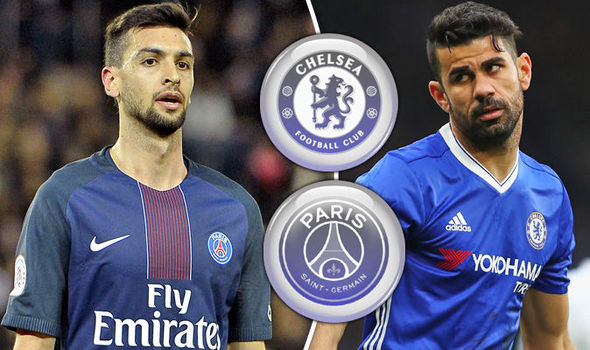 Javier Pastore and Diego Costa