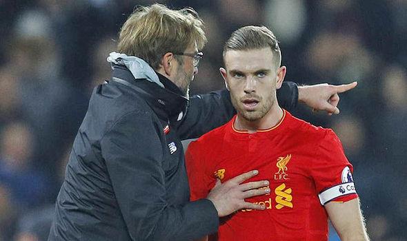 Jordan Henderson at Liverpool