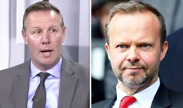 Craig Burley and Man Utd executive vice-chairman Ed Woodward