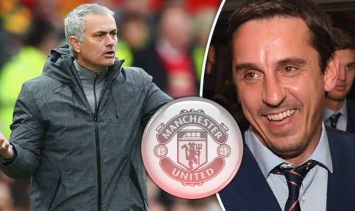 Image result for jose mourinho and Gary Neville