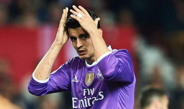 Alvaro Morata in action for Real Madrid
