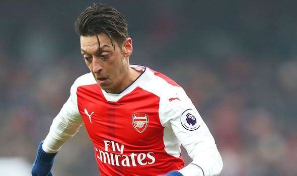 Mesut Ozil in action for Arsenal against Hull