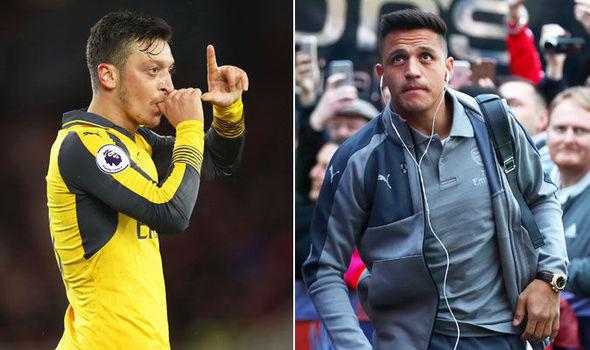 Arsenal duo Mesut Ozil and Alexis Sanchez