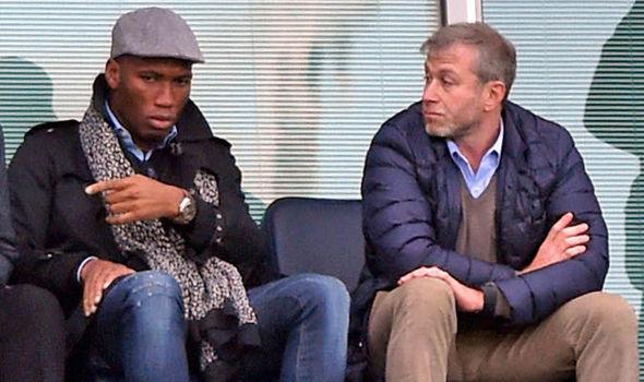Roman Abramovich Didier Drogba Chelsea