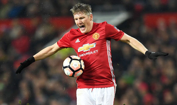 Bastian Schweinsteiger in FA Cup action for Manchester United