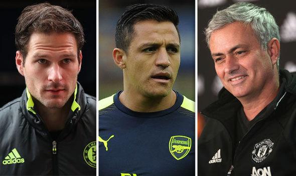 Begovic, Sanchez, Mourinho