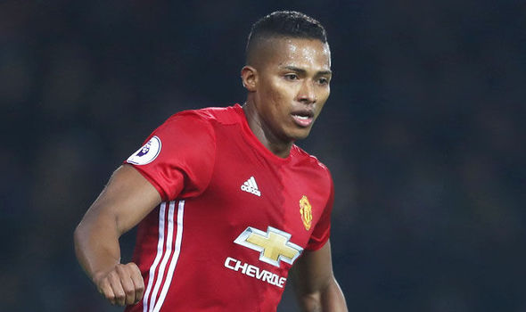 Antonio Valencia in action for Manchester United against West Brom
