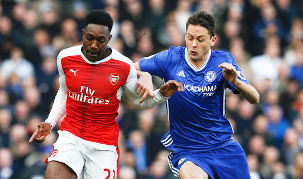 Danny Welbeck in action for Arsenal against Chelsea