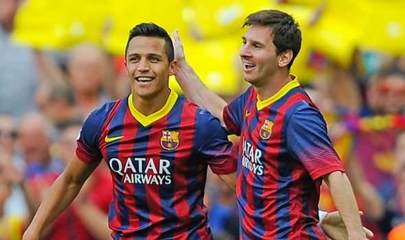 Image result for sanchez and messi