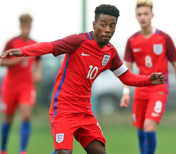 Angel Gomes is captain of the England U17s