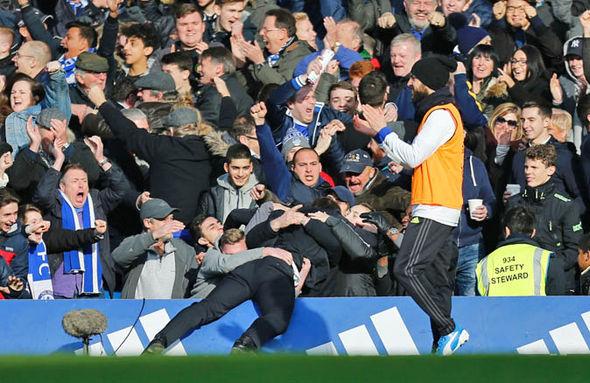Antonio Conte in the crowd