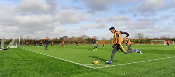 Ozil at training