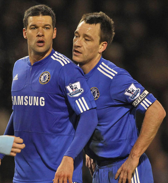 Ballack played alongside Terry for four season