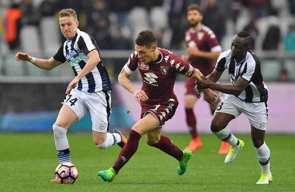 Andrea Belotti playing for Torino