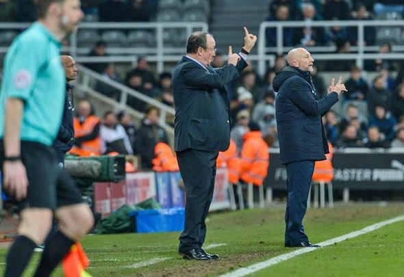 Benitez at Newcastle