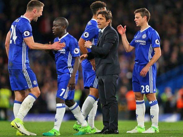 Chelsea are seven points clear of Tottenham with just eight games remaining