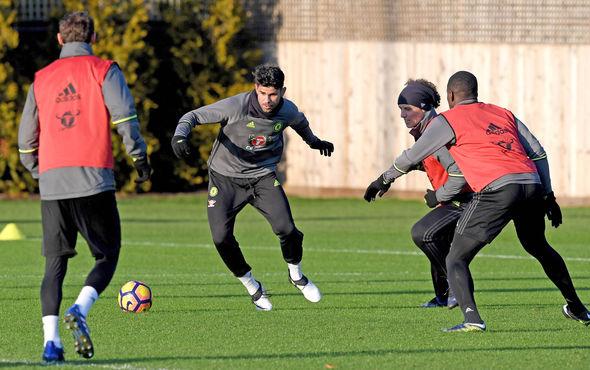 Diego Costa training