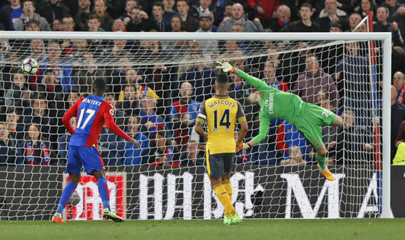 Crystal Palace v Arsenal goals