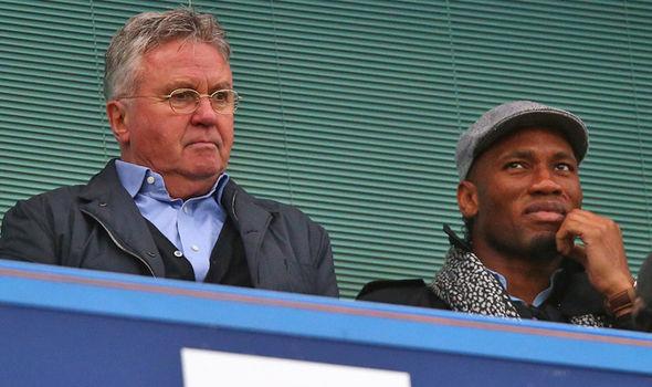 Didier Drogba Guus Hiddink