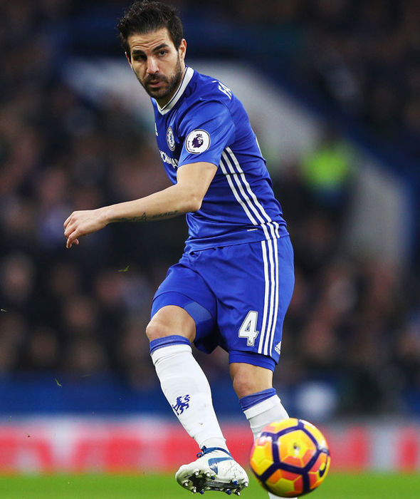Cesc Fabregas in action for Chelsea against Stoke
