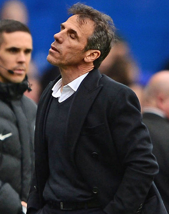 Gianfranco Zola stepped down as Birmingham boss on Monday