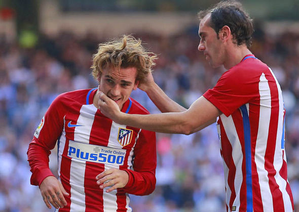 Griezmann scored a late equaliser for Atletico in the Madrid derby