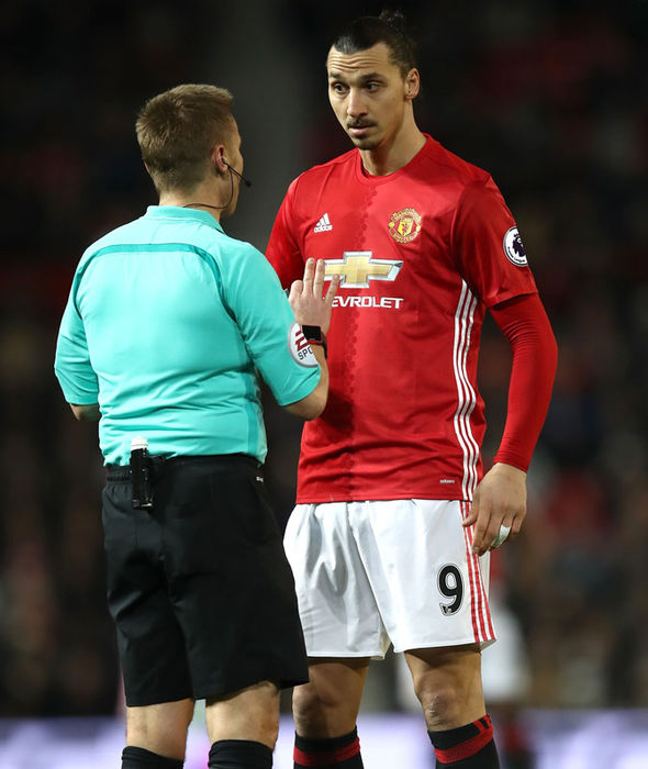 Zlatan Ibrahimovic during Manchester United's draw against Hull