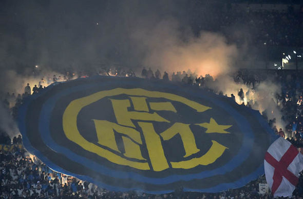 Inter Milan fans at the San Siro