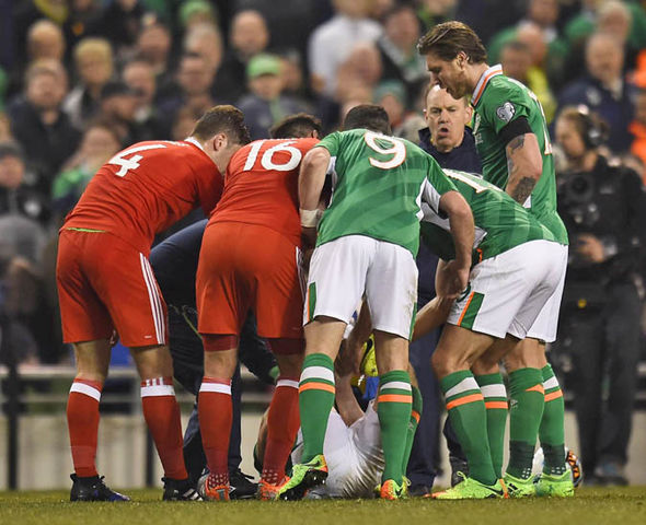 Coleman leg break playing for Ireland