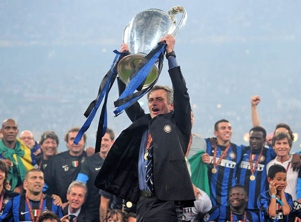 Jose Mourinho wins the Champions League