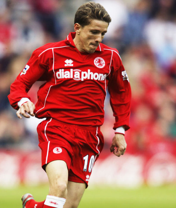 Juninho during his Middlesbrough days
