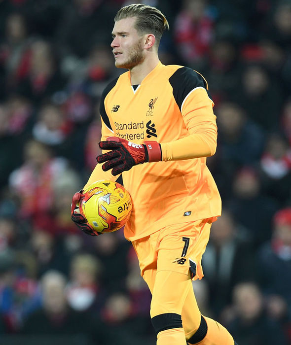 Loris Karius in action for Liverpool against Southampton
