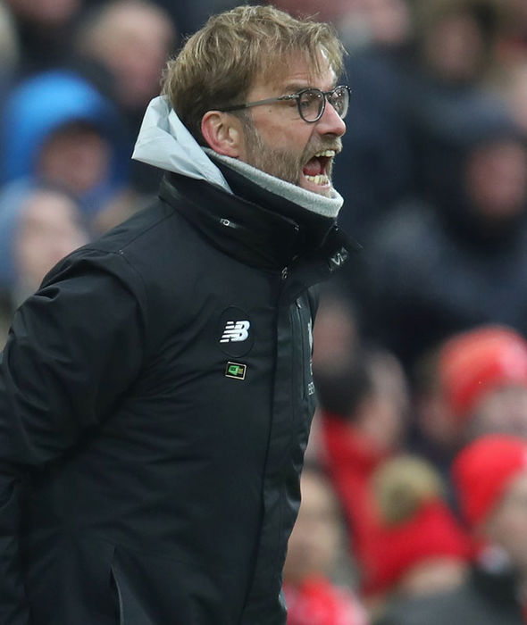 Jurgen Klopp during Liverpool's defeat against Swansea