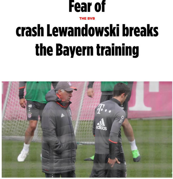 Robert Lewandowski injury on Bild