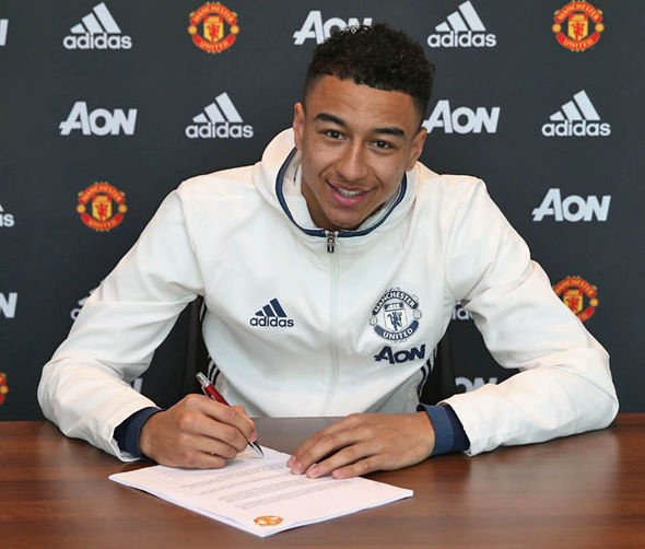 Lingard signed a new deal yesterday worth £100,000-a-week