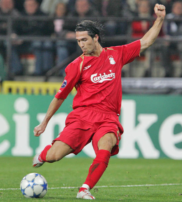 Luis Garcia playing for Liverpool