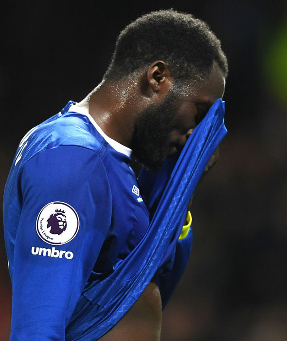 Romelu Lukaku reflects on a missed chance for Everton
